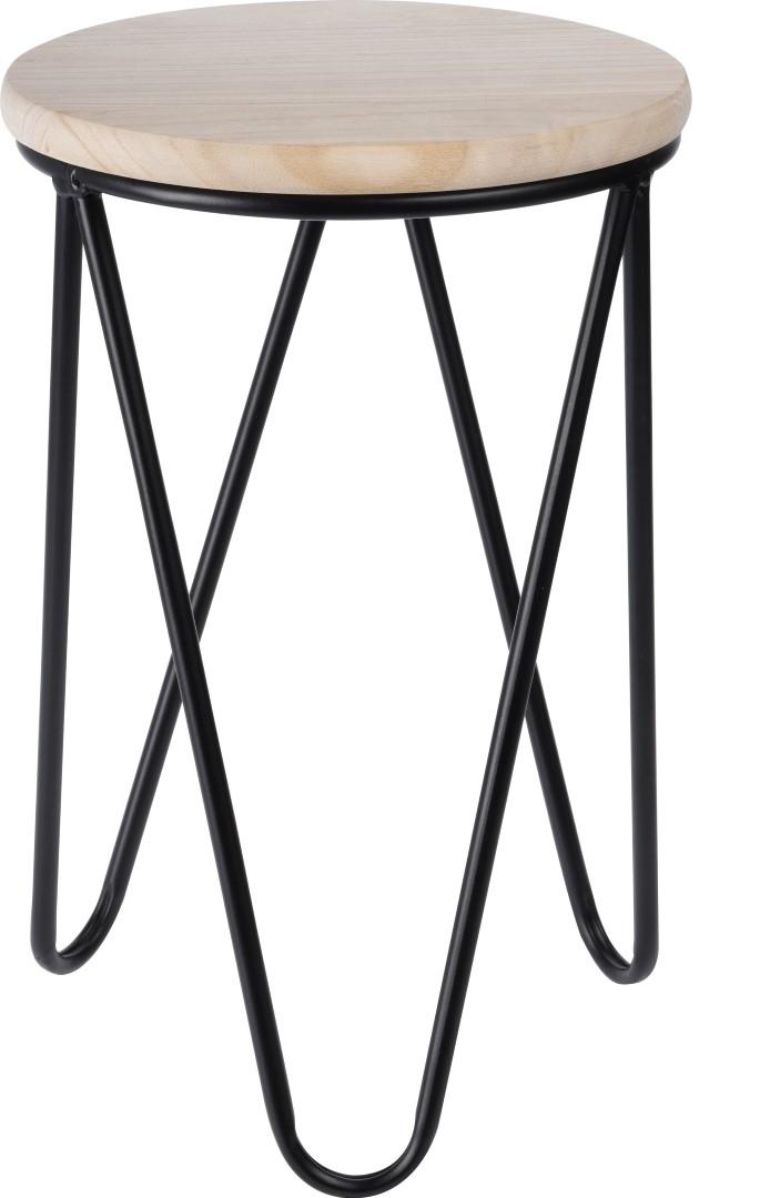 Odkládací stolek / stolička Symfoni, 30 cm, černá
