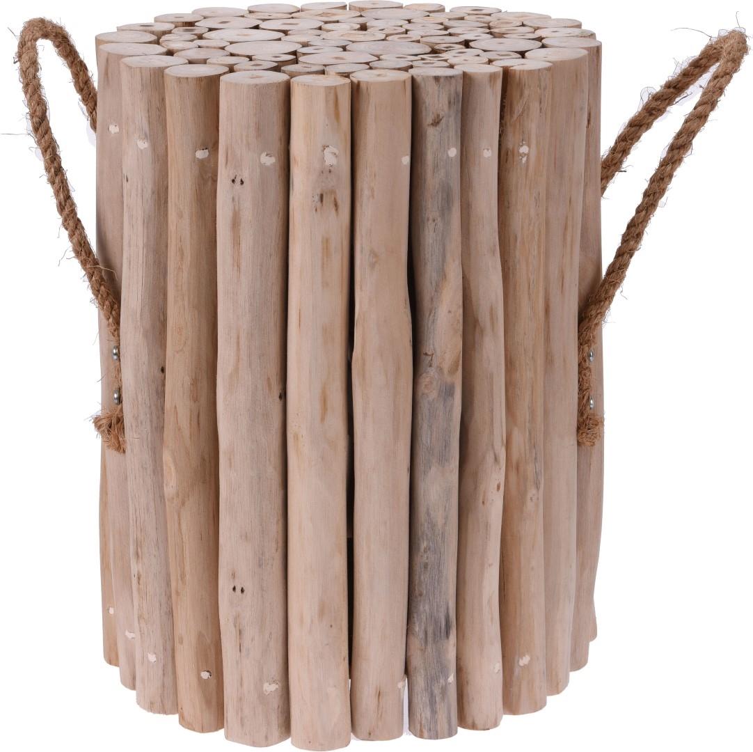 Odkládací stolek / stolička teaková Della, 29,5 cm