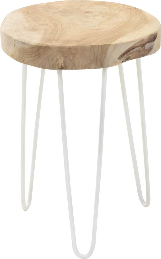 Odkládací stolek / stolička teaková Troja, 28,5 cm