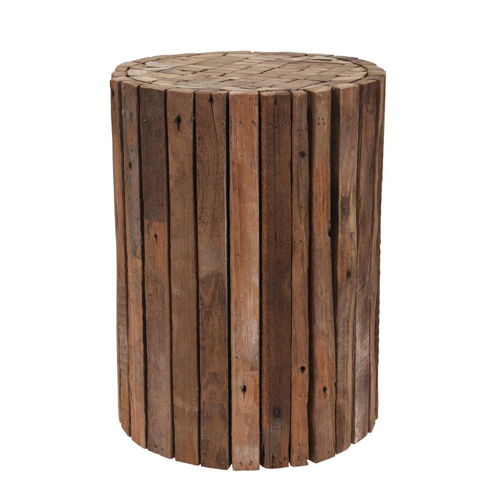 Odkládací stolek / stolička Trata, 30 cm, teak