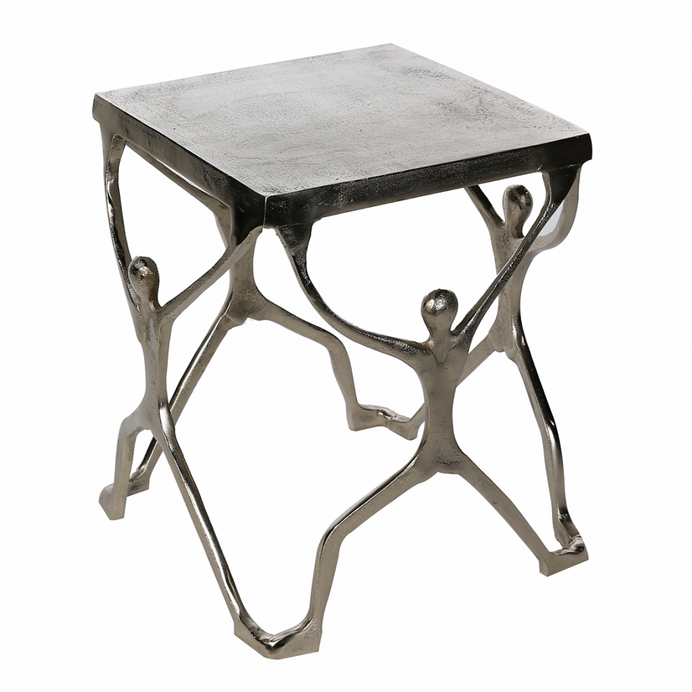 Odkládací stolek Strong, 46 cm, stříbrná