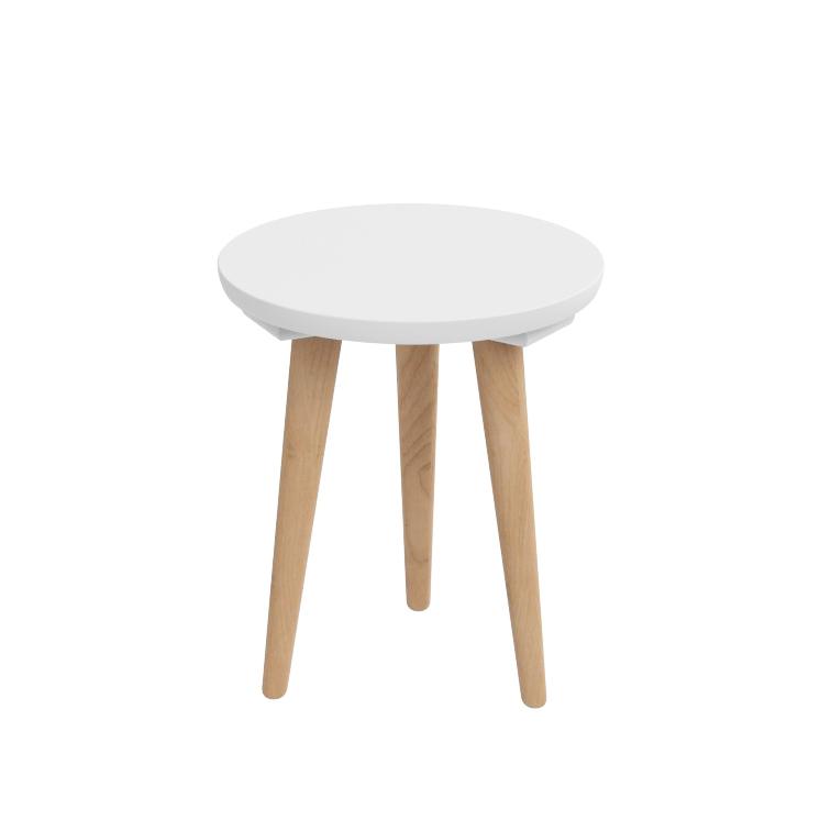 Odkládací stolek Tafel, 30 cm, bílá