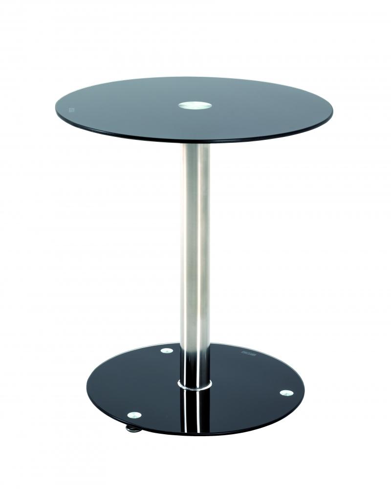 Odkládací stolek Thea, 51 cm, černé sklo