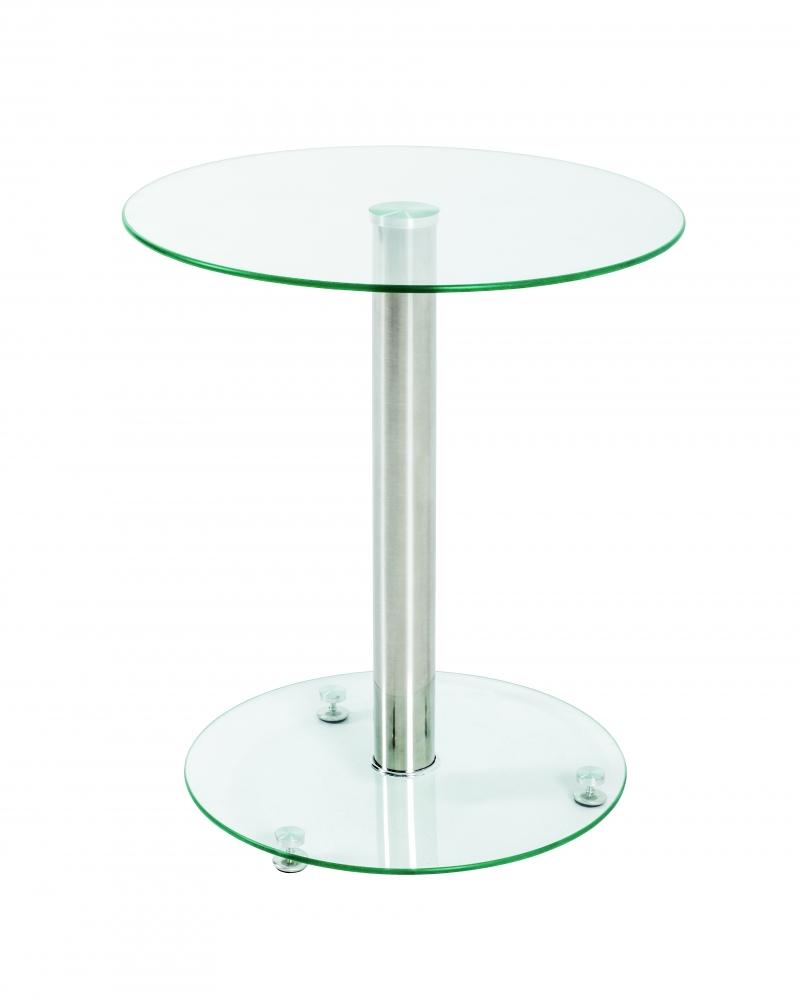 Odkládací stolek Thea, 51 cm, čiré sklo