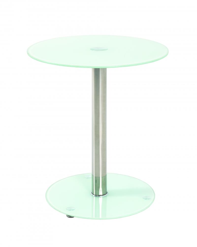 Odkládací stolek Thea, 51 cm, mléčné sklo