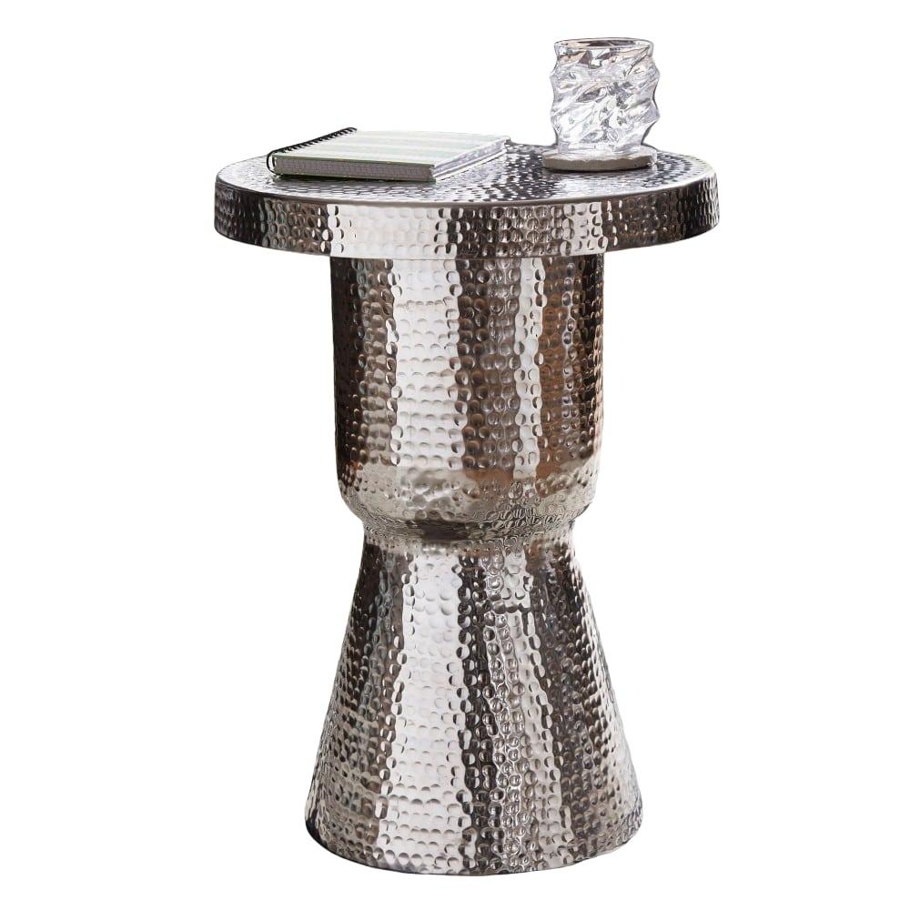 Odkládací stolek Tina, 59 cm, stříbrná