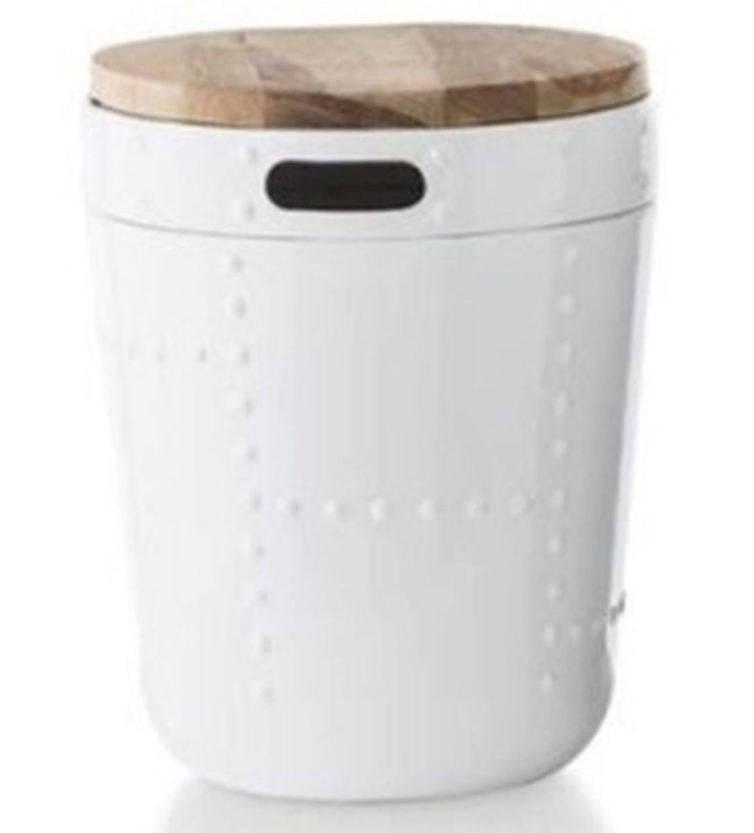 Odkládací stolek Tromble, 33 cm, dřevo/bílá