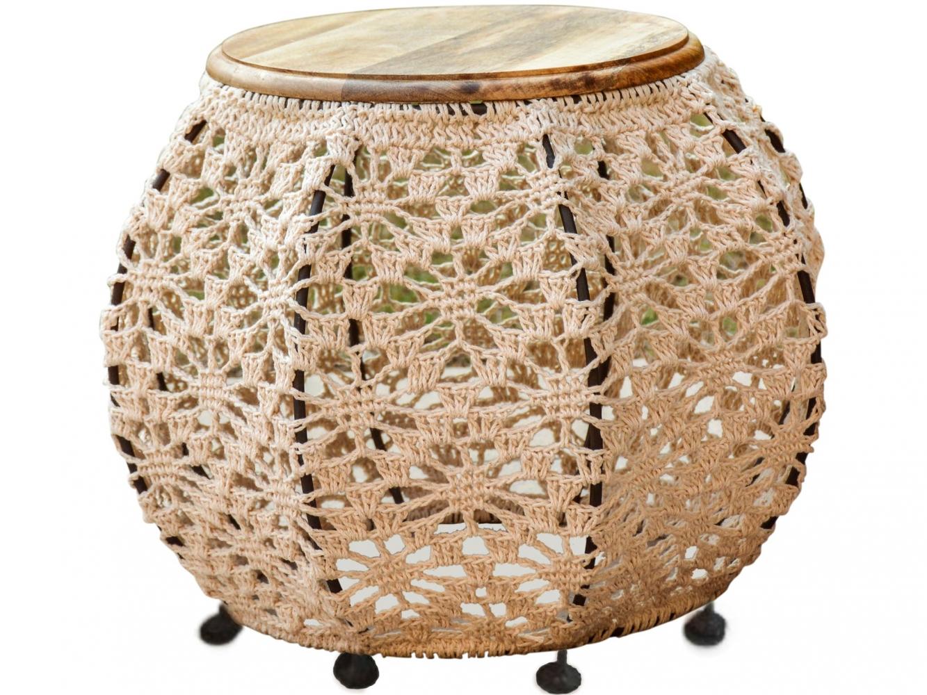 Odkládací stolek Vick, 43 cm, světle hnědá