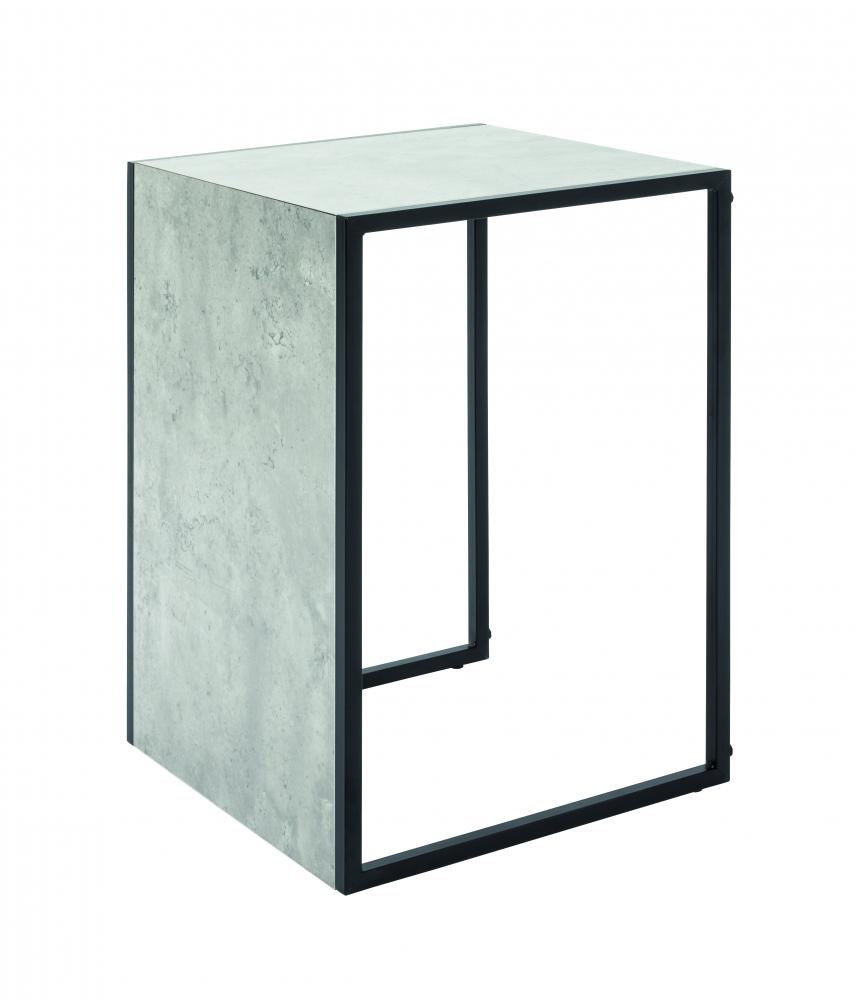Odkládací stolek Vickie, 38 cm, beton/černá