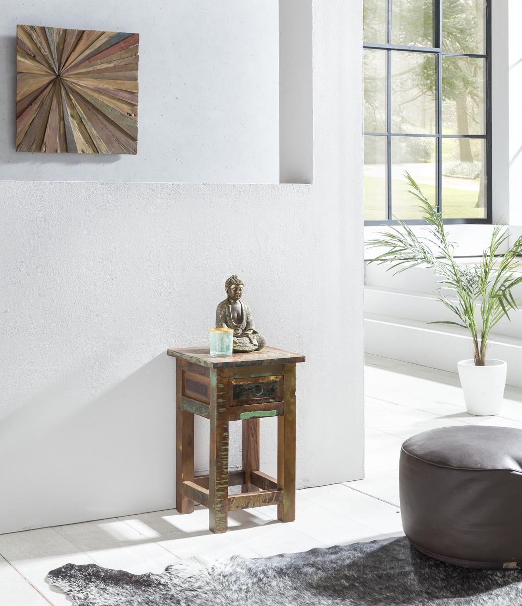 Odkládací stolek z recyklovaného dřeva Kalkutta, 30x50 cm, mango