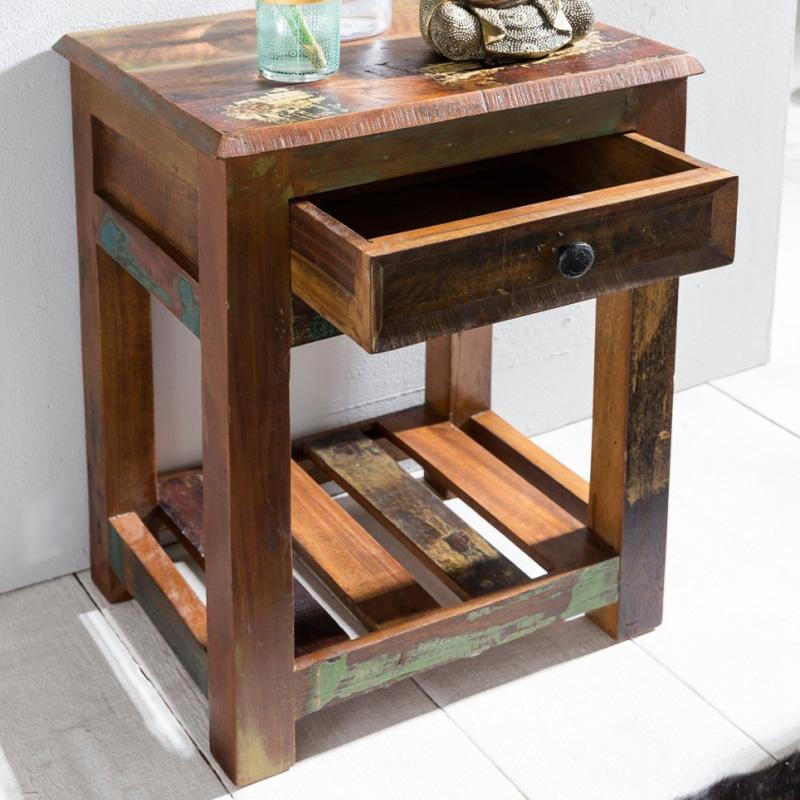 Odkládací stolek z recyklovaného dřeva Kalkutta, 45x60 cm, mango