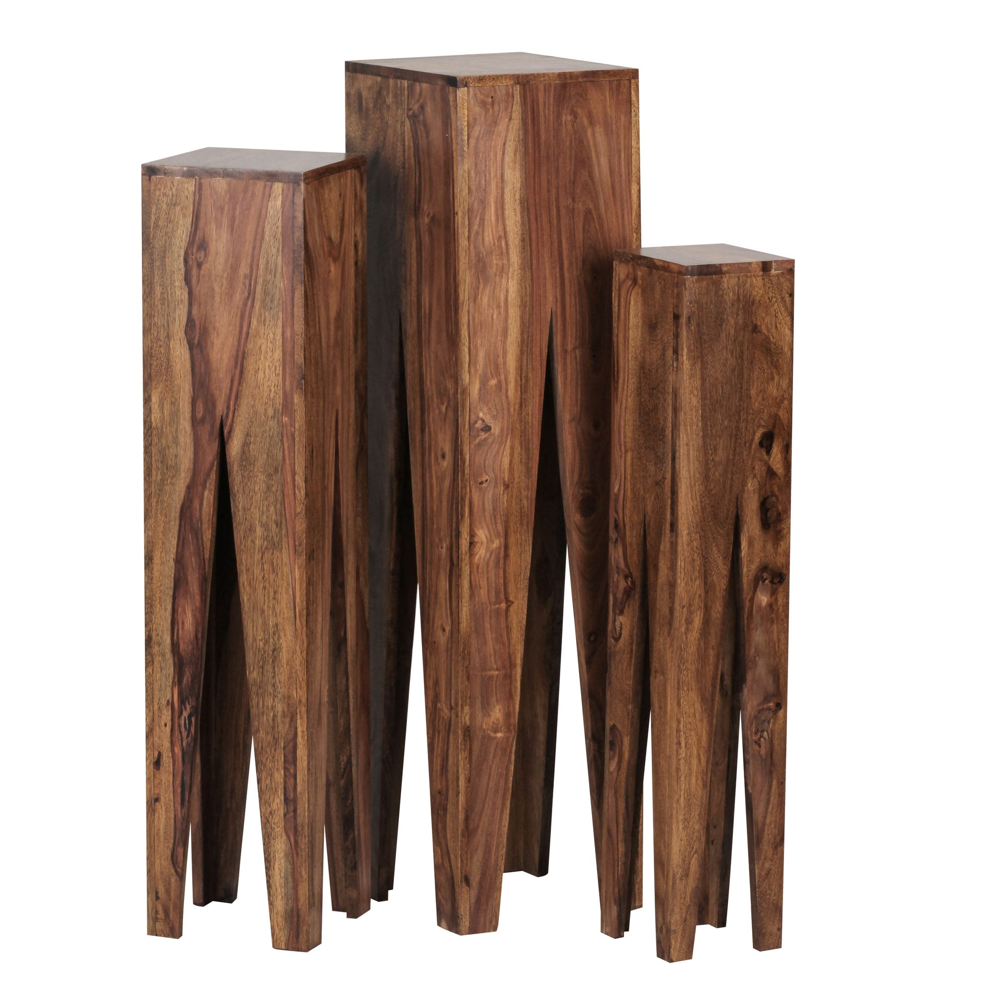 Odkládací stolky Kada, 100 cm, sada 3 ks, masiv Sheesham