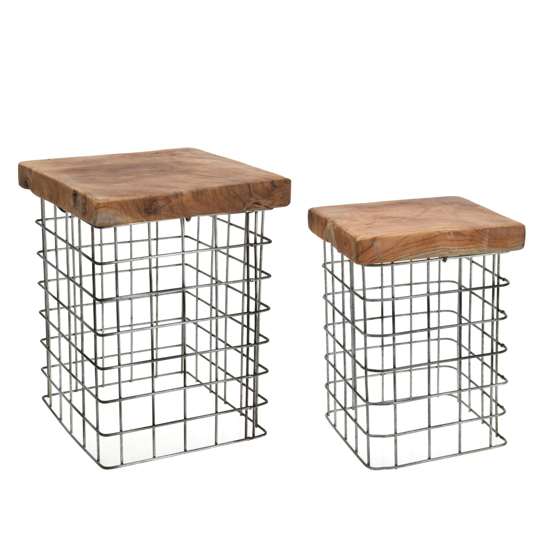 Odkládací stolky Riset čtvercové, 30 cm, sada 2 ks
