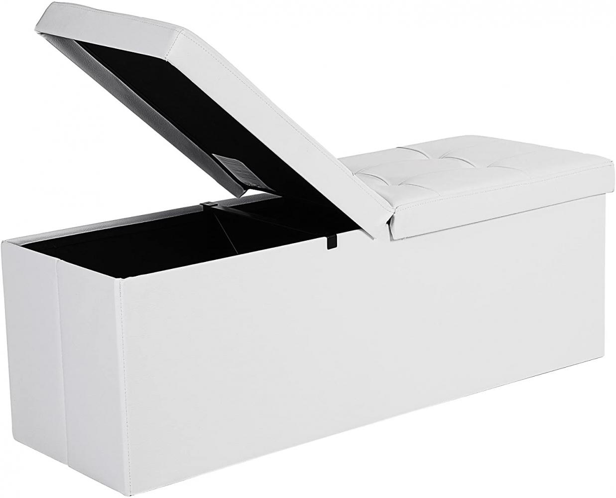 Odklápěcí lavice Versa, 110 cm, bílá