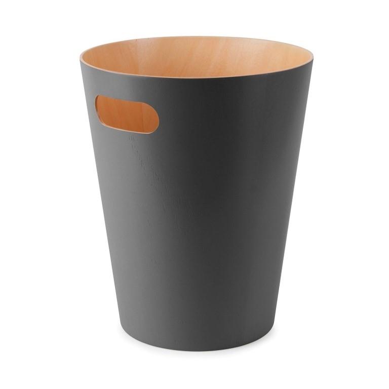 Odpadkový koš Andreas, dřevo/antracit