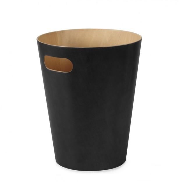 Odpadkový koš Andreas, dřevo/černá