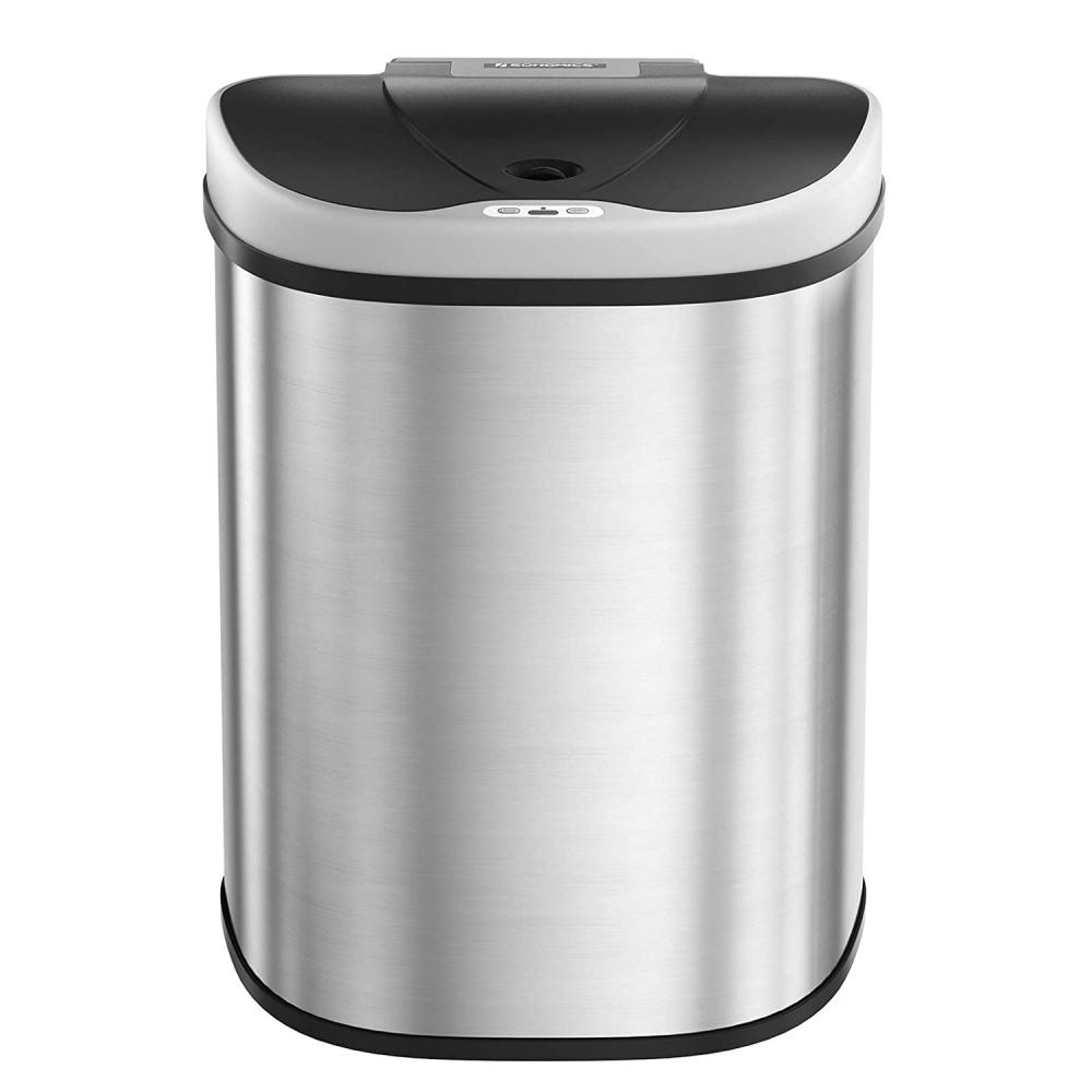 Odpadkový koš Ben, 67,1 cm, stříbrná