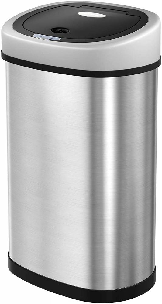 Odpadkový koš Ben, 72,2 cm, stříbrná / černá