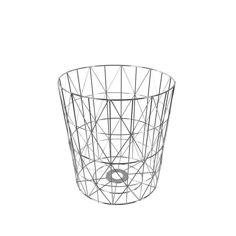 Odpadkový koš kovový Basket, 38 cm, stříbrná