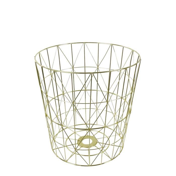 Odpadkový koš kovový Basket, 38 cm, zlatá