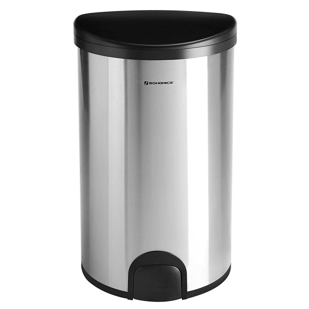 Odpadkový koš Louis, 64,4 cm, černá / stříbrná