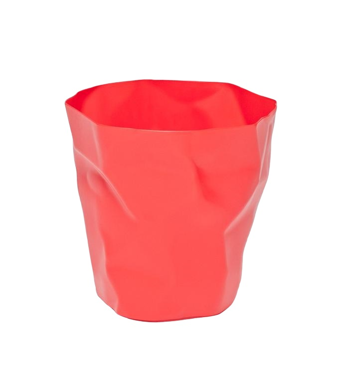 Odpadkový koš Paper, červená