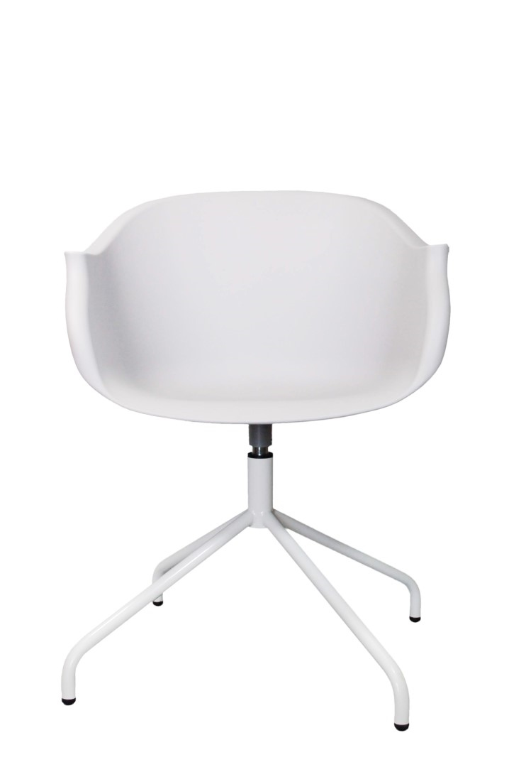 Otočná židle Skyde, bílá