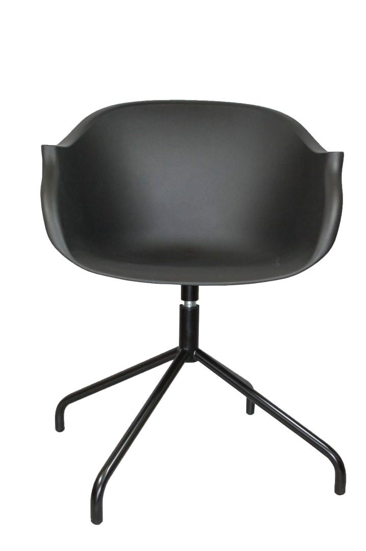 Otočná židle Skyde, černá