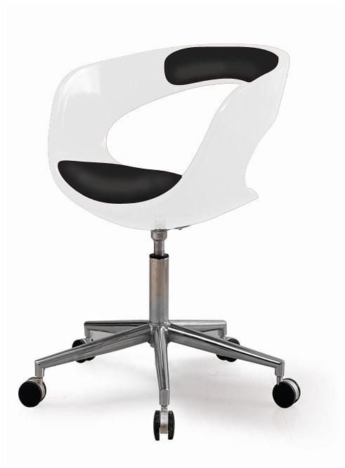 Otočné kreslo na kolieskach Carla (SET 2 ks) biela / čierna, biela / čierna