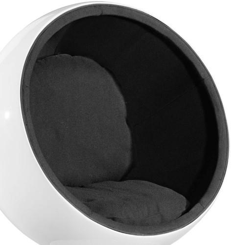 Otočné křeslo Sphere, černá