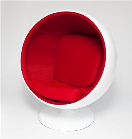 Otočné křeslo Sphere, červená