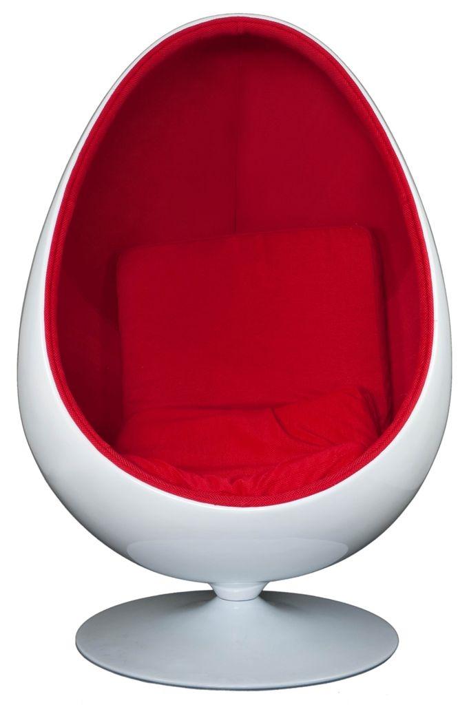 Otočné křeslo Sphere ovál, červená