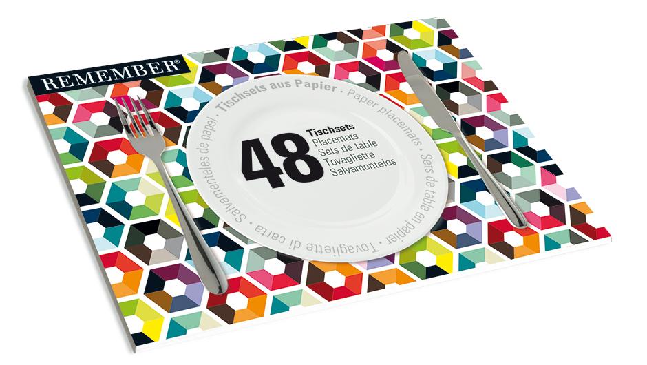 Papírové prostírání Pattern, 48 ks