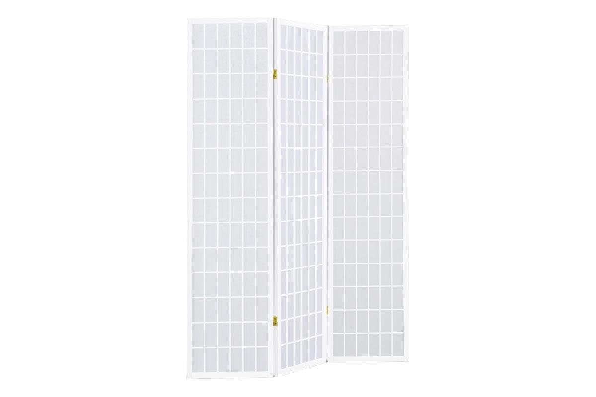 Paraván 3dílný Pueblo, 180x132 cm, bílá