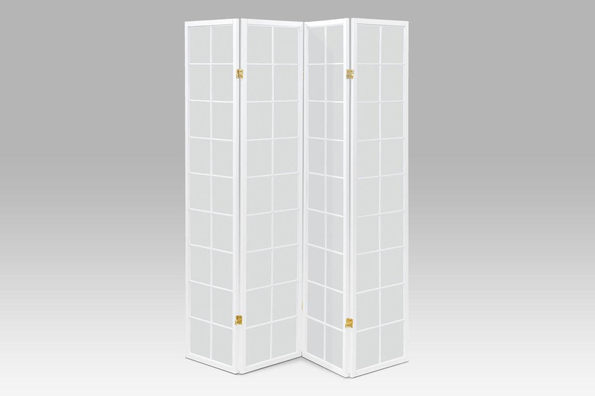 Paraván 4dílný Pablo, 179x174 cm, bílá