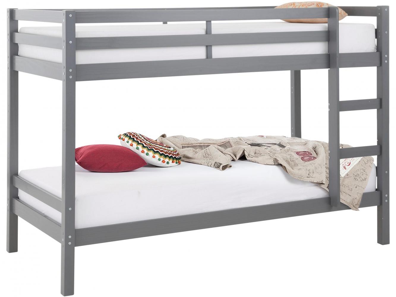 Patrová postel Ali I., 208 cm, šedá