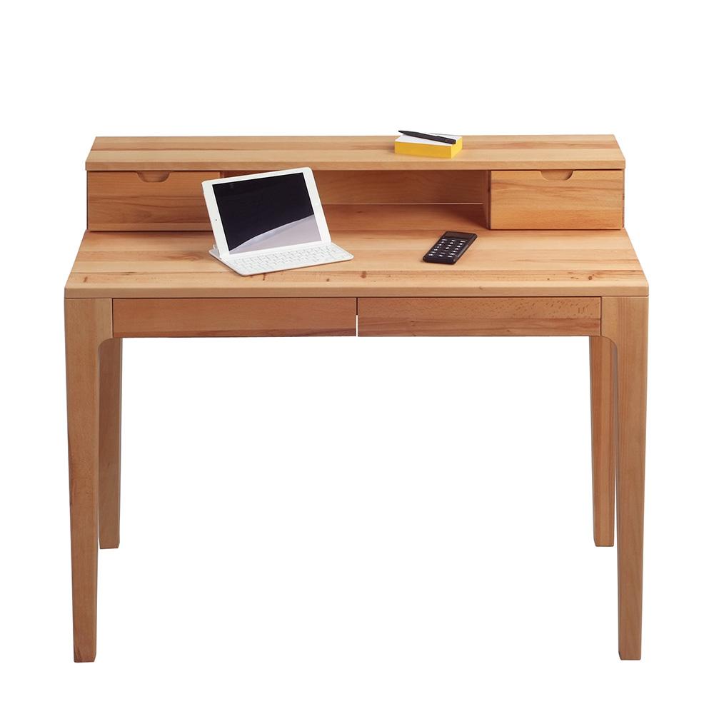 3eaf4941ee07a Písací stôl s nadstavbou Theodor, 110 cm, buk   DESIGN OUTLET