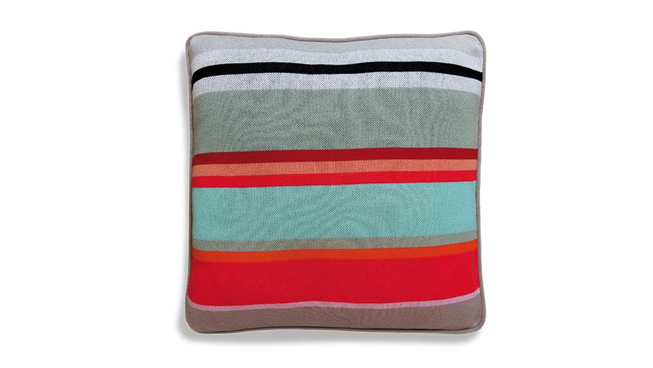 Pletený vlněný polštář Stripe, 50 cm
