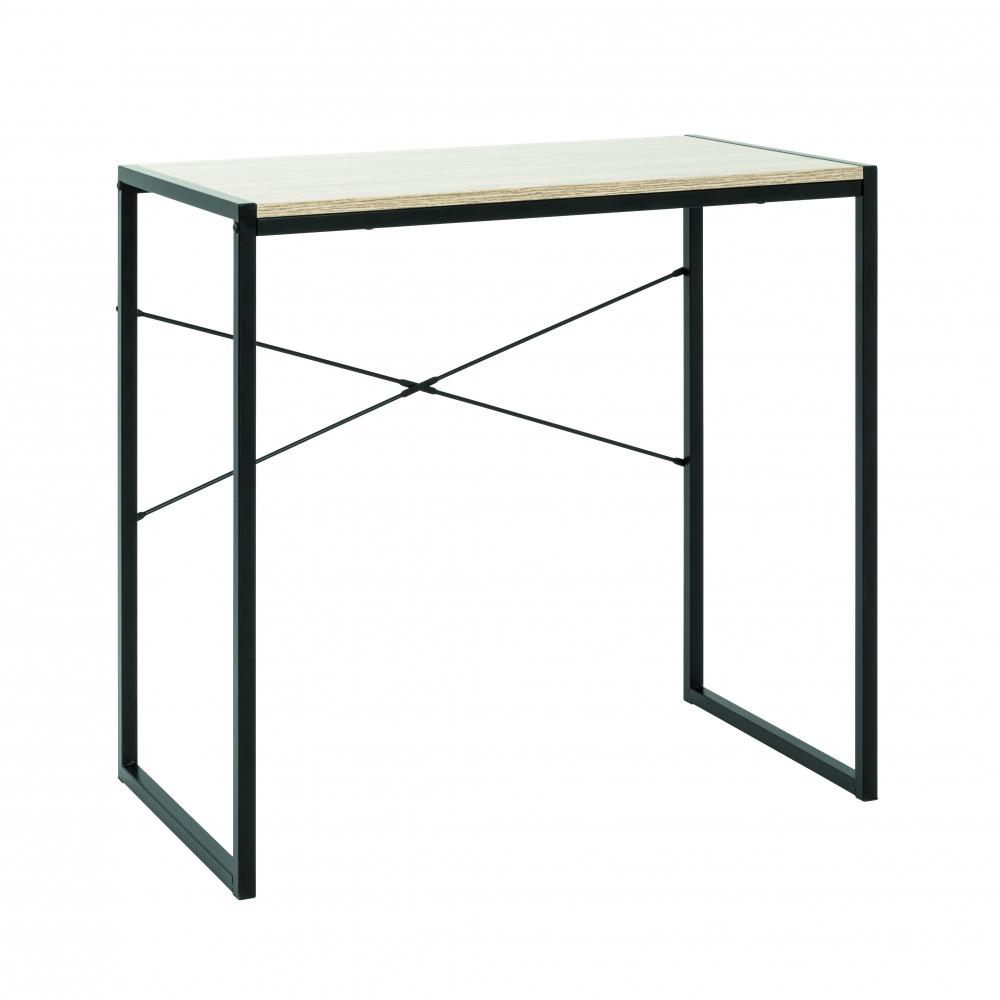 Počítačový stůl Brady, 76 cm, dub/černá