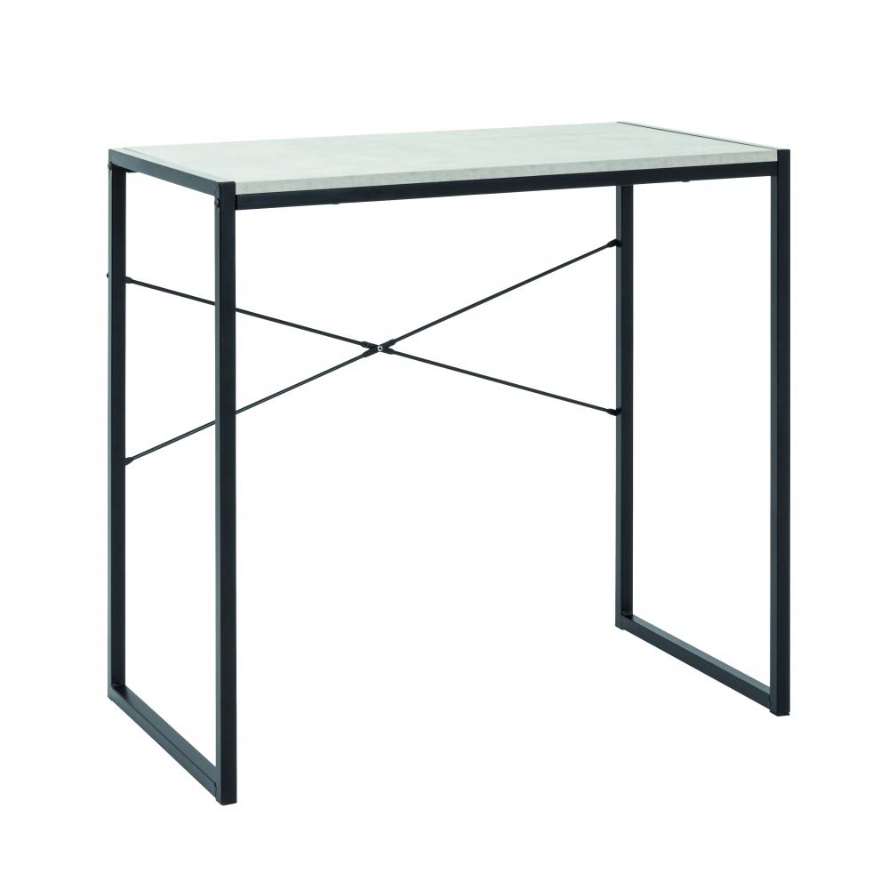 Počítačový stůl Vickie, 76 cm, beton/černá