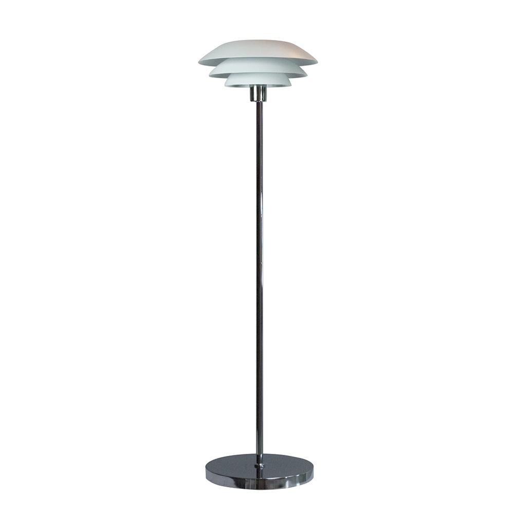 Podlahová lampa DL31, 133 cm, bílá