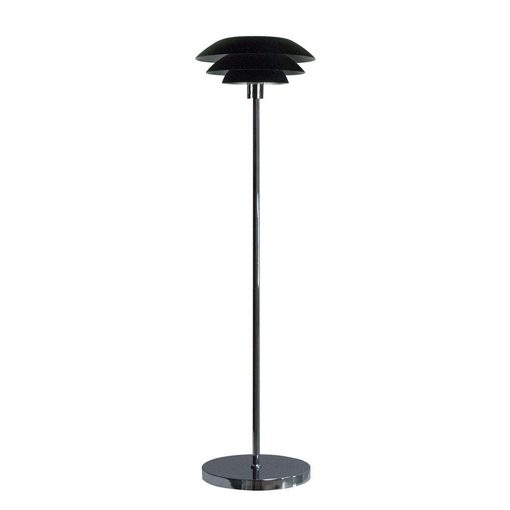 Podlahová lampa DL31, 133 cm, černá