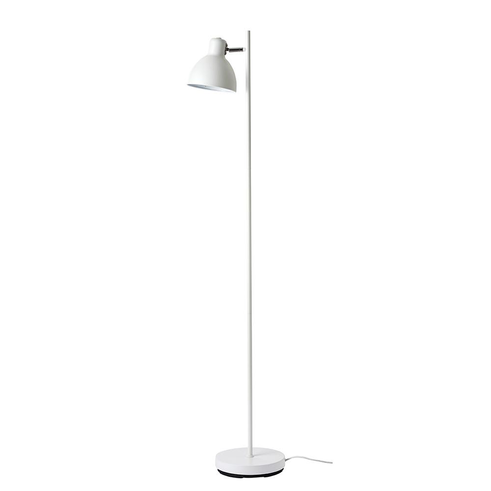 Podlahová lampa Skagen, 143,5 cm, bílá