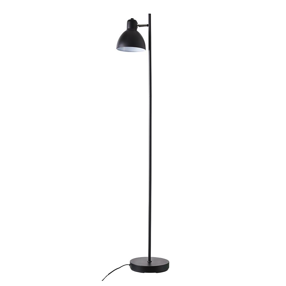 Podlahová lampa Skagen, 143,5 cm, černá