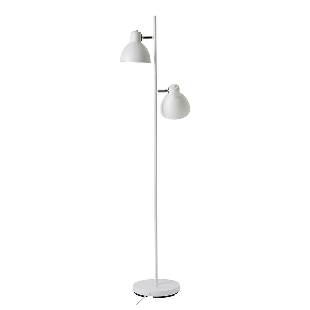Podlahová lampa Skagen, 155 cm, bílá