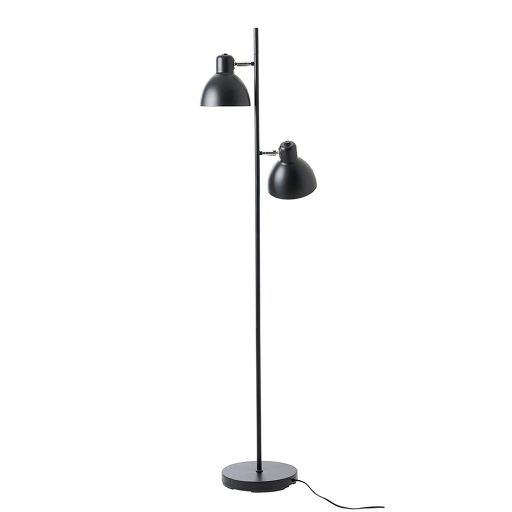 Podlahová lampa Skagen, 155 cm, černá