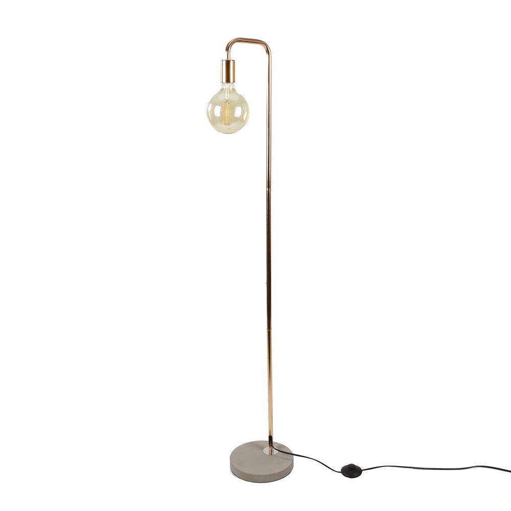 Podlahová lampa Edet, 138 cm, měď