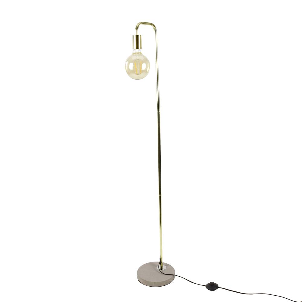 Podlahová lampa Edet, 138 cm, mosaz