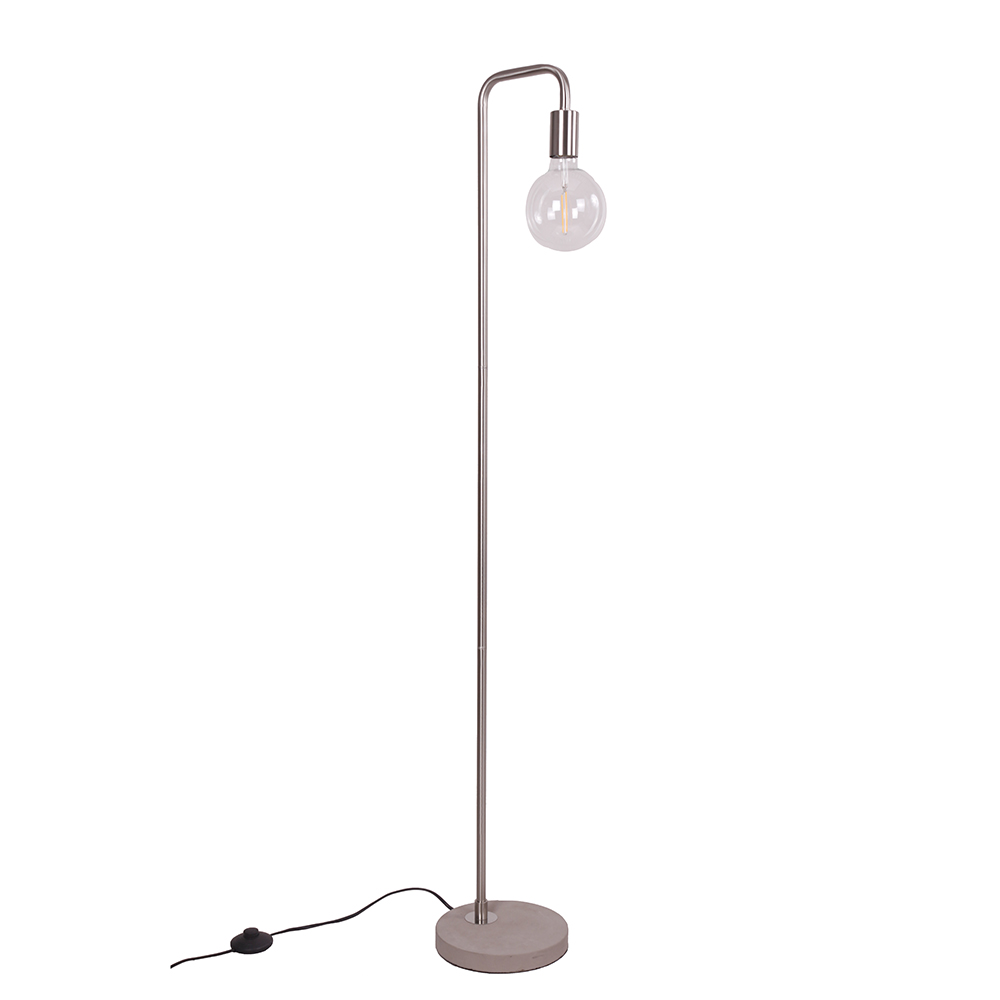 Podlahová lampa Edet, 138 cm, nikl
