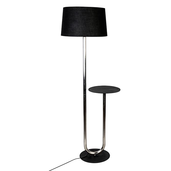 Podlahová lampa se stolkem Skema, 156 cm